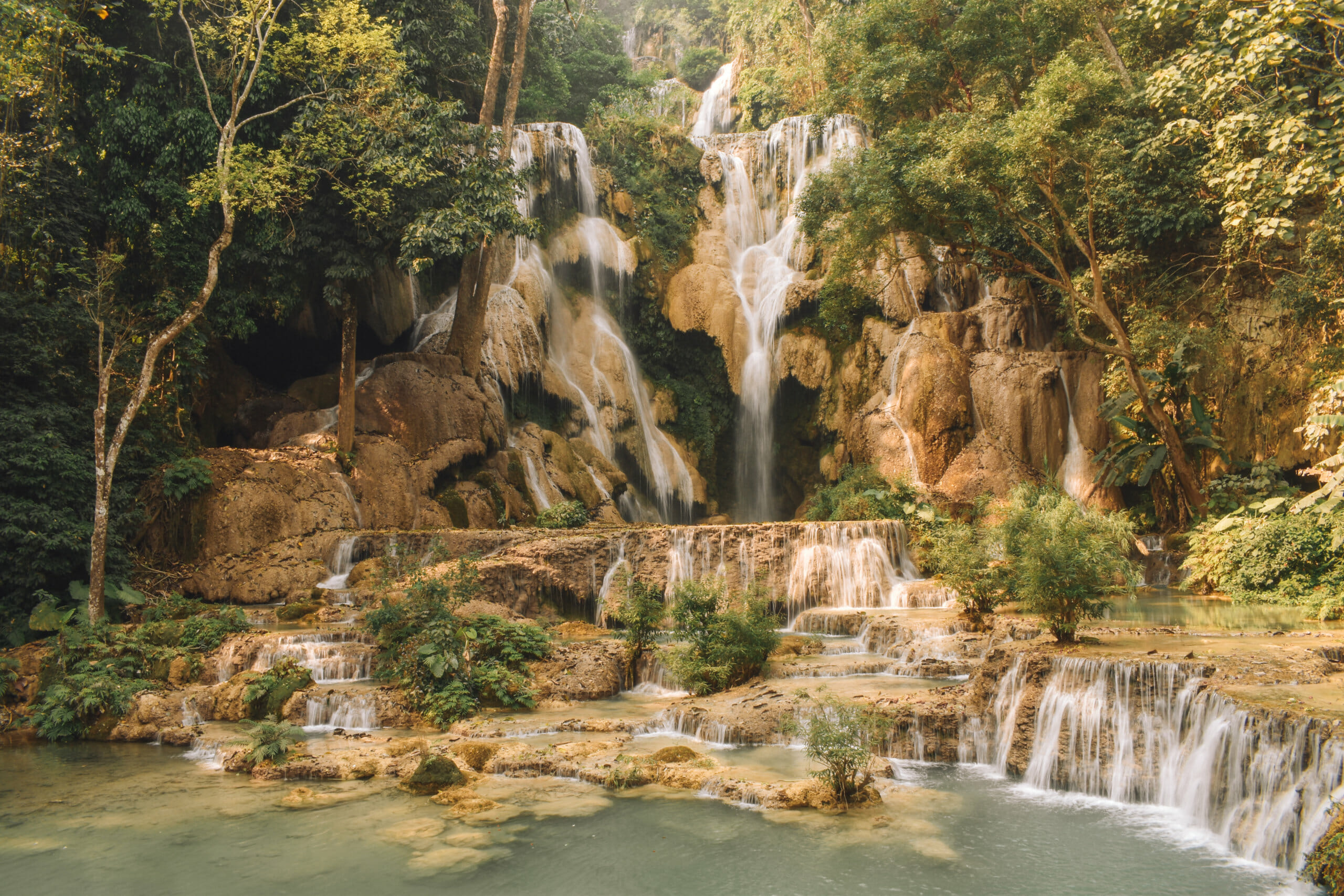 destinations laos kuang si falls